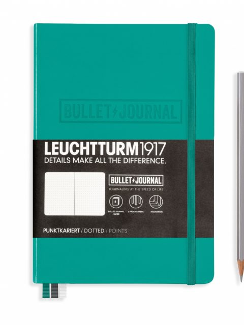 bullet-journal-notebook-medium-a5-hardcover-240-numbered-pages-dotted-emerald